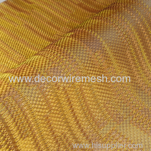 golden wall covering metal cloth