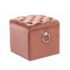 Ring Side Velvet Ottoman Chair with Stud & Buttons for Living Room Chair Restaurant Chair