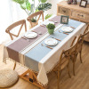 Modern Decorative Table Cloth Tassel Iace Rectangle Table cover Home Kitchen Party Banquet Tablecloth Unit Price $8.89