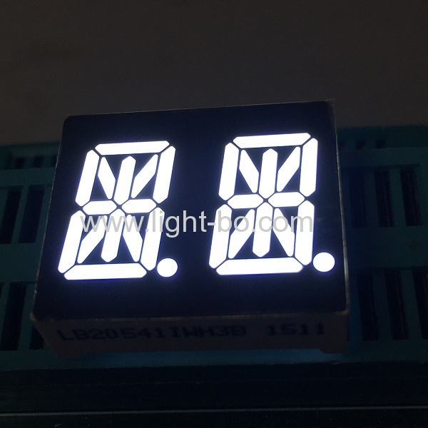 Ultra White 14-segment LED display 0.54-inch dual-digit Common Anode for Instrument Panel