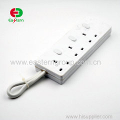 3 outlet surge protector extension socket