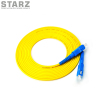 SC/UPC to SC/UPC 90/125um Single mode Yellow Simplex Fiber Optic Patch Cord Jump Cable