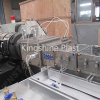 WPC rolling door frame profile wrapping making machine