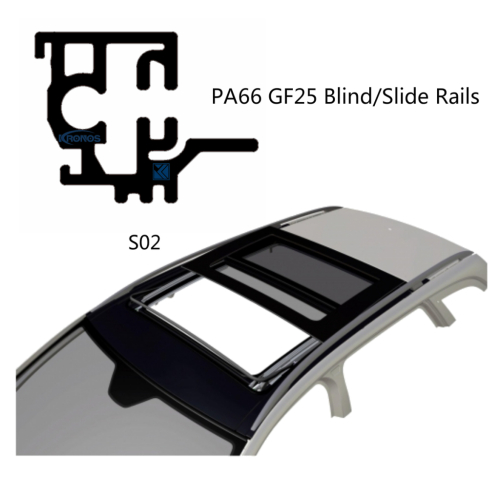 Lightweight and Hardwearing Polyamide Slide Rails for Automotive Sunroofs