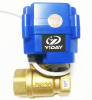 YIDAY 3/4'' 2 way Brass Electric Ball Valve 9-24V AC/DC and CR01 2 Wire NPT or BSP Thread Ball Valve
