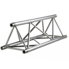 Powder Coasted Black 290x290mm Triangular Truss with Spigot Connection