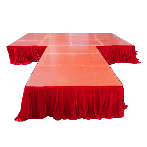 Modular stage skirting in different colour