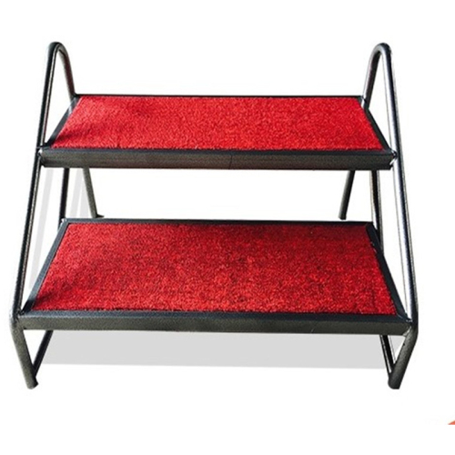 Portable modular stage steps for portable folding stage