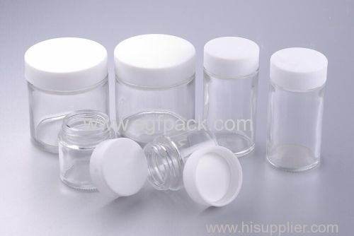 Screw Glass Jar Empty Child Proof Weed Glass Bottle Resistant Lip Glass Container For Spices