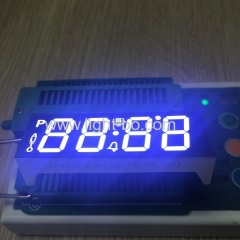 Customized Ultra Bluish white 4 digit 7 segment led display common cathode for oven
