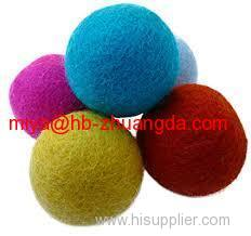 colorful wool felt ballsfor decoration in festival or home customised as client's requirements