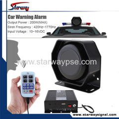 Car Siren Speaker electronic Siren amplifier wireless remote siren