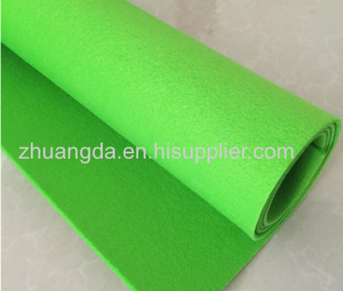 Color wool felt needled non-woven fabric color chemical fiber blended wool felt fabric polyester can be added back glue
