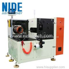 Horizontal Single Side stator coil Lacing Machine for high winding overhang big electric motor