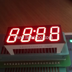 Super red 12mm 4 Digit 7 segment led clock display common anode for home appliances