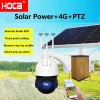 360degree auto-cruise 4G Solar power 64G SD audio PTZ speed dome camera support external RCA 3.5mm audio connector