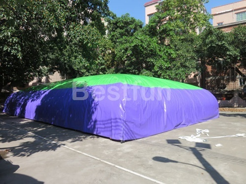 Stunt jumping cushion air bag for bike