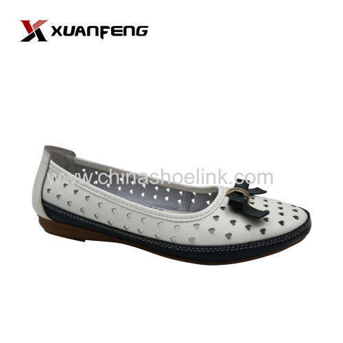 Custom handmade women's leather shoes comfortable wear round toe summer shoes retailer
