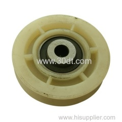 Mitsubshi Elevator Lift Spare Parts White Roller