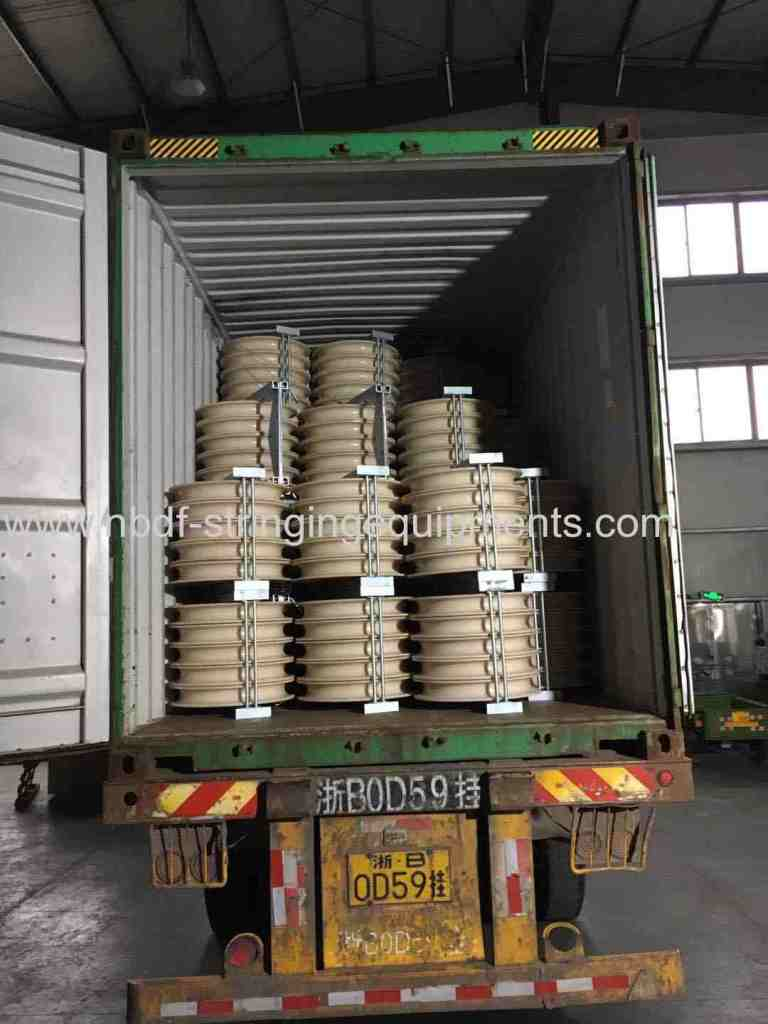 Conductor Stringing Blocks and Anti Twisting Braided Steel Wire Rope exported