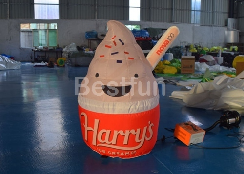 Decoration Cartoon Advertising Inflatables ice cream