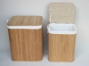 Bamboo storage basket with removable liner. bamboo hamper. bamboo box. bamboo laundry basket
