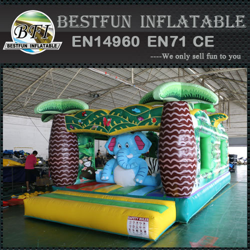 Jungle Adventure Elephant Inflatable Bouncer