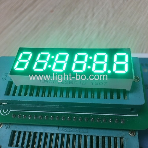 Pure Green 0.36  6 Digit 7 Segment LED Clock Display xcommon anode for clock indicator