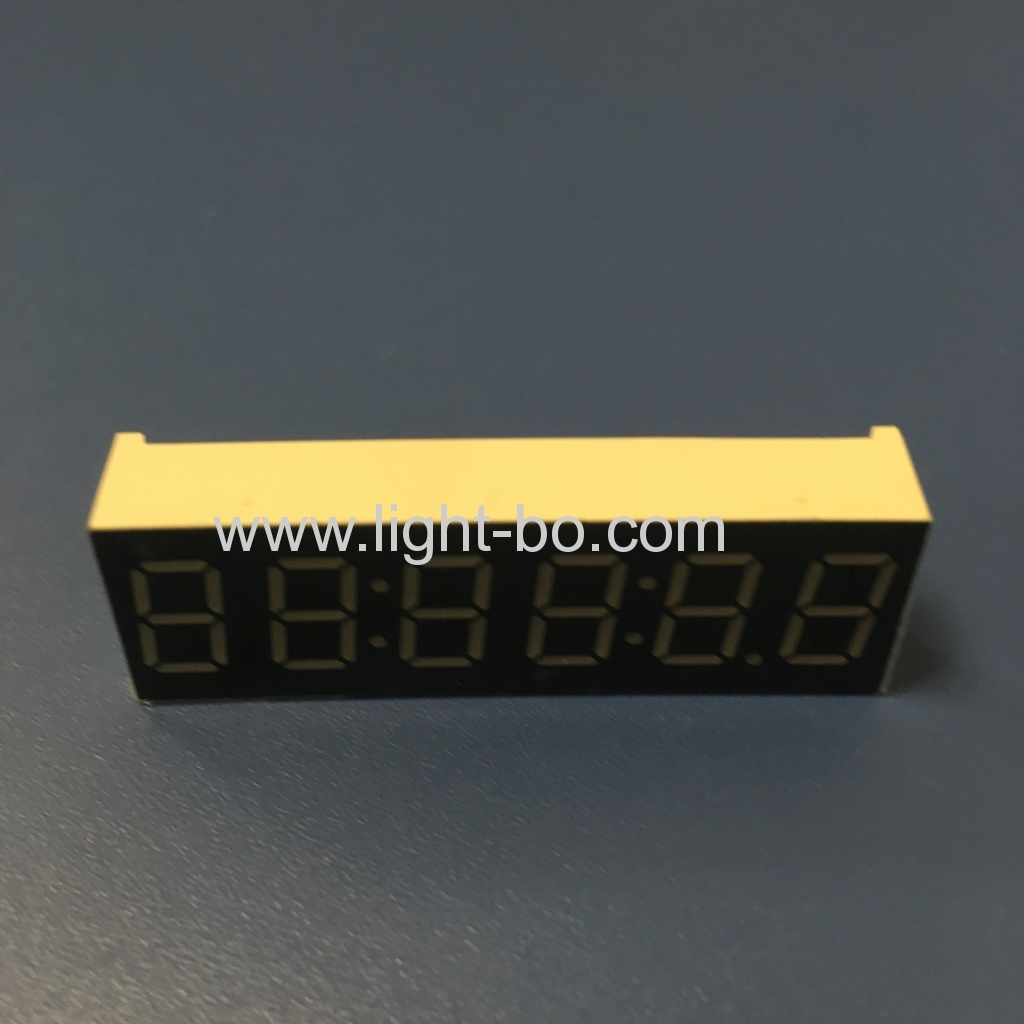"Pure Green 0.36"" 6 Digit 7 Segment LED Clock Display xcommon anode for clock indicator"