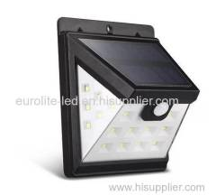 euroliteLED Upgraded 3 Modes Wide Angle Solar Lights Wireless Solar Motion Sensor Light Outdoor Waterproof Solar Light