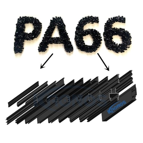 27mm Eurogroove Design Extruded PA66 GF25 Thermal Break Polyamide Struts