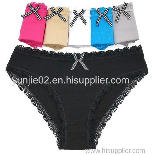 Yun Meng Ni New Style Young Girls Sexy Briefs Size M L XL Women Cotton Panties with Bow Women Lingerie