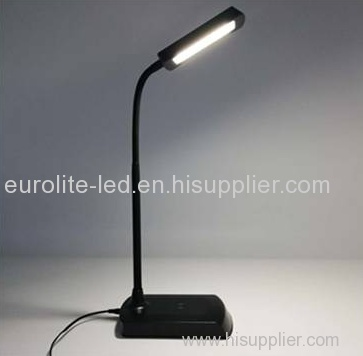 euroliteLED Led Desk Lamp with USB Port and 360° Adjustable Metal Hose