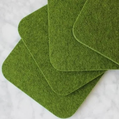 wholesale all kinds of wool felt coaster made of 100% Merino wool felt material