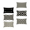 Rectangle Cushion Cover Geometry Pillow Cover Nordic Style Decoration Throw Pillow Covers Zigzag 30X50 Cotton Linen