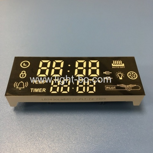 Customized multicolor 8-Digit 7 Segment LED Display for oven timer control panel