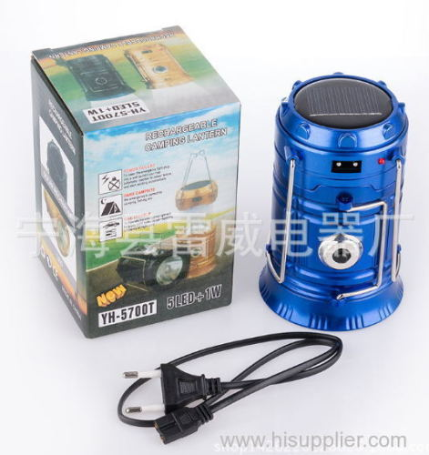euroliteLED Solar Lantern DC 5V Stretchable switch Key switch Blue Black Bronze Camping lamp SixLEDLamp beads