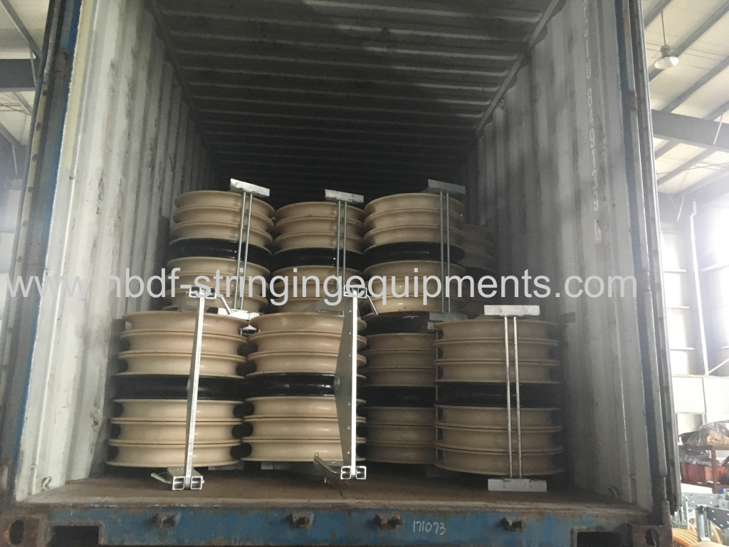 Conductor Stringing Blocks Exported for Overhead Transmission Line Stringing