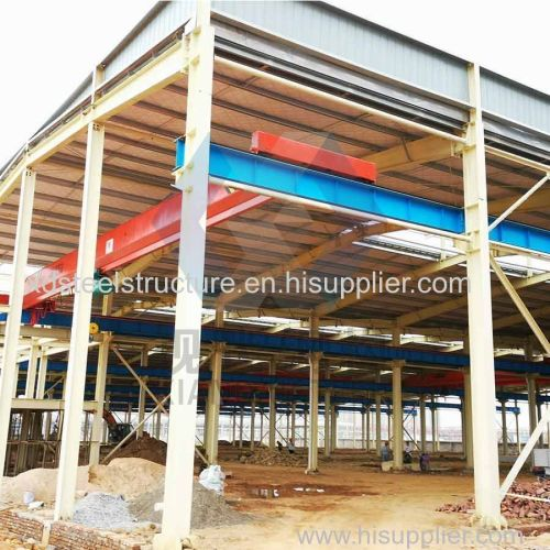 Light Gauge Steel Framing Prefabricated House / Factory / Shed Steel Structure Drawing