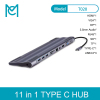 MC 11 in 1 USB 3.0 USB C HUB to HDMI 4K for Macbook Pro 3 Ports USB C HUB with Hub 3.0 PD TF SD Reader for Type C Laptop