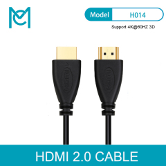 MC HDMI Cable 50cm-15m Video Cables 2.0 3D Gold Plated Cable High speed for HD TV XBOX PS3 Computer