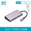 MC Type-c hub to HDMI/USB 3.1/Read Card/Gigabit Network port with PD Charging C Port Docking Station