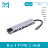 MC 8-In-1 Type C Hub USB C to HDMI USB 3.0 Ports USB 2.0 Port SD/TF Card Reader USB-C Power Delivery for MacBook Pro