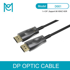 MC DP To DP 1.4 Optical Fiber Cable 10m 50m 100m 8K@60Hz 4K@144Hz DisplayPort Cables 32.4Gbps DisplayPort 1.4 Cable