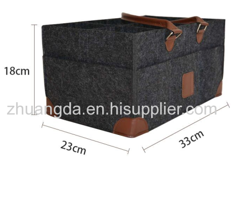 Felt cosmetic bag multi-functional storage bag large capacity felt bag can be customized simple lining bag