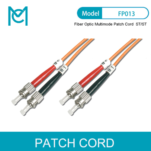 MC Professional Fiber Optic Multimode Patch Cord ST / ST