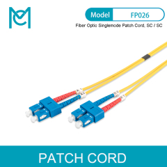 MC Future-oriented Standards Fiber Optic Singlemode Patch Cord SC / SC