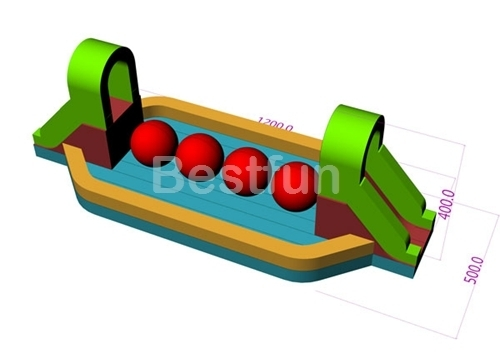 Course Adult Wipeout Big Balls Inflatable Obstacle Game