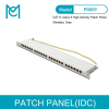 "MC CAT 6 Patch Panel Shielded 24-port RJ45 with Shutter 8P8C LSA 0.5U 19"" Rack Mount"