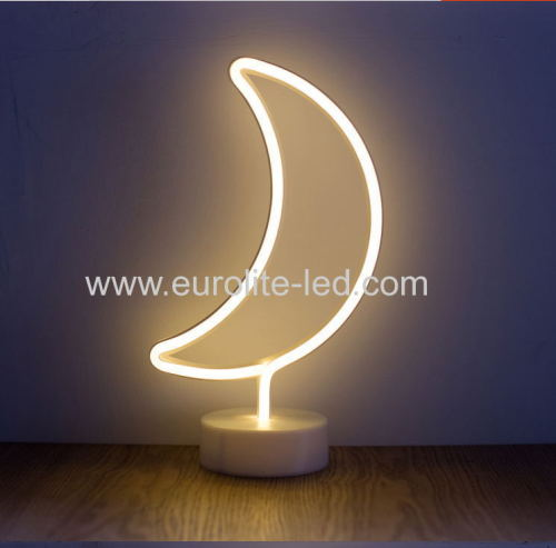 Led Neon moon Night Light Fevistal Holiday Decration Light